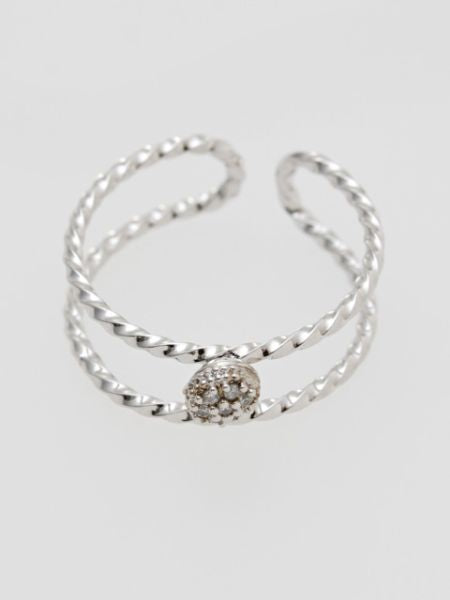 Twin Rhinestone Ring-Ametsuchi