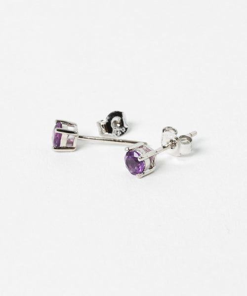 Potong Anting-anting Amethyst φ4-Anting-Ametsuchi