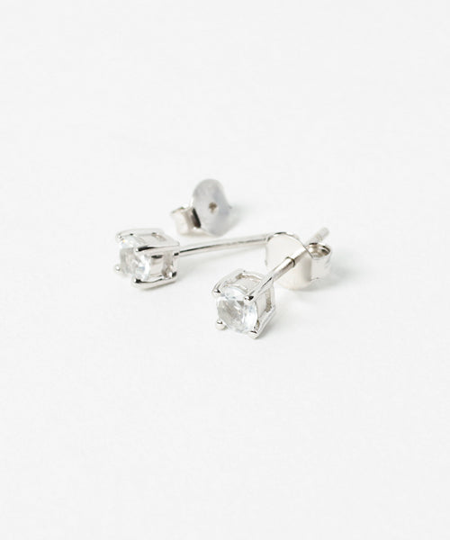 Cut Topaz Earringsφ4-Earrings-Ametsuchi