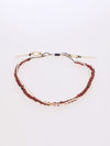Production Stone Silk Anklet January Garnet -Anklets-Ametsuchi