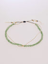 Stone Silk Anklet May Aventurine -Anklets-Ametsuchi