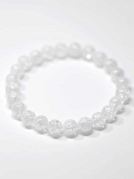 8mm Cracked Crystal Beads Bracelet