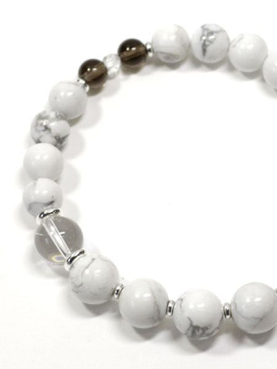 10mm Smokey Quartz Mixed Bracelet-Ametsuchi
