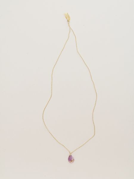 Ametrine Silk Braid Necklace-Necklaces-Ametsuchi