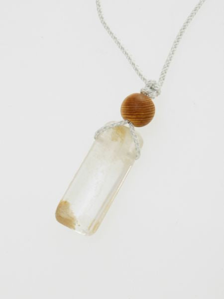 Silk Braid Garden Quartz Necklace -Necklaces-Ametsuchi