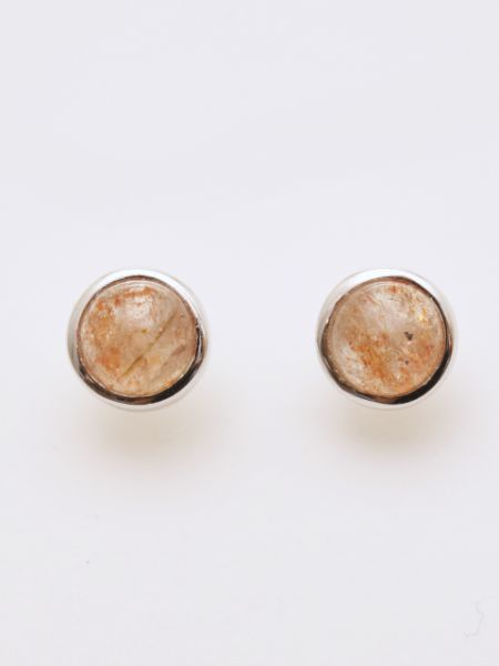 Subang Stud Sunstone -Earrings-Ametsuchi