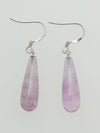 Amethyst Drop Earrings-Ametsuchi