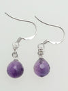 Amethyst Chain Earrings-Ametsuchi