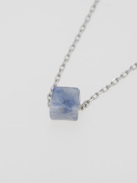 Square Cut Gemstone Necklace-Ametsuchi