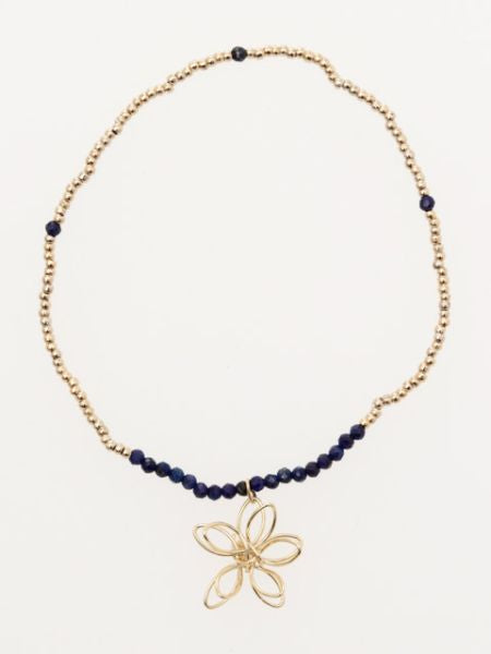 Wireworked Flower x Gemstone Bracelet-Ametsuchi