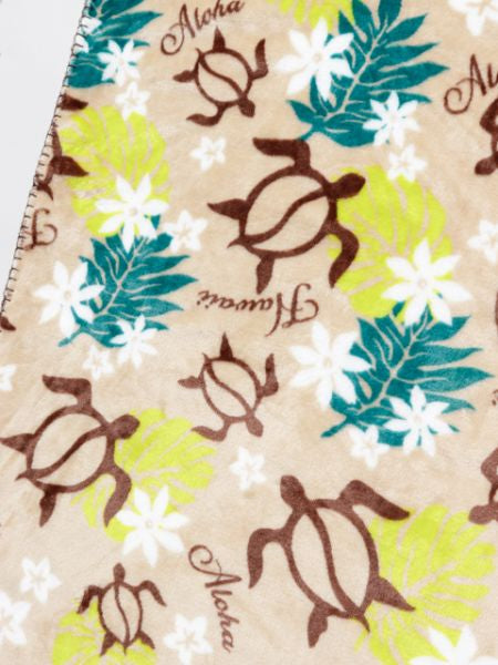 HONU & PLUMERIA Throw S-Bed Linens-Ametsuchi
