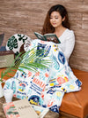 Vintage Surf Throw M-Bed Linen-Ametsuchi