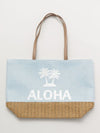 Spangle ALOHA Denim Tote Bag-Ametsuchi