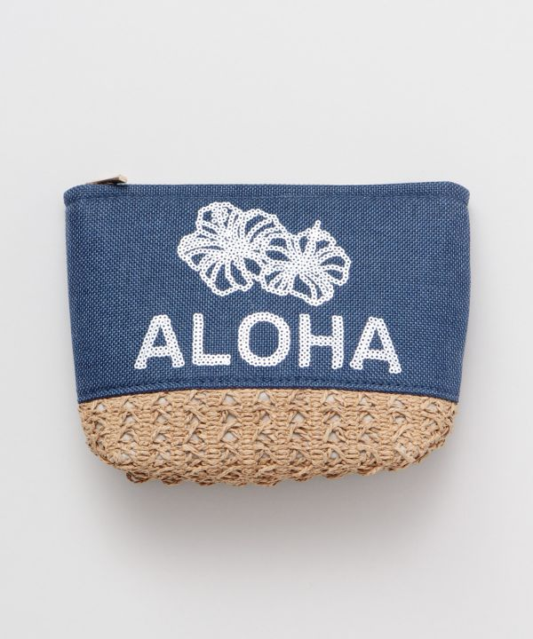 Sequins Hibiscus Pouch