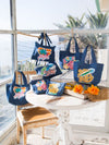 Surf Trip Denim Shoulder Bag-Bags & Purses-Ametsuchi