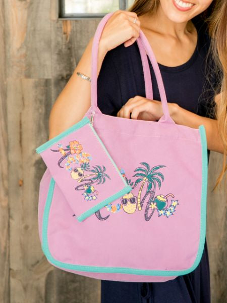 ALOHA Art Tote & Pouch Set of 2-Ametsuchi