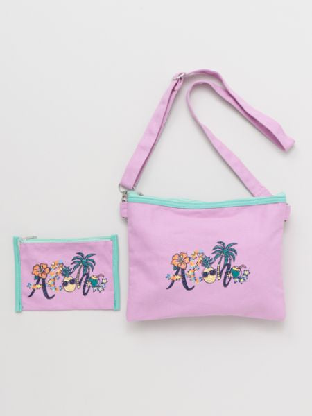 ALOHA Art Shoulder Bag & Pouch Set