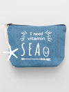 Starfish Denim Pouch-Ametsuchi