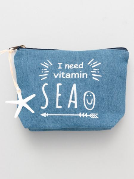 Starfish Denim Pouch