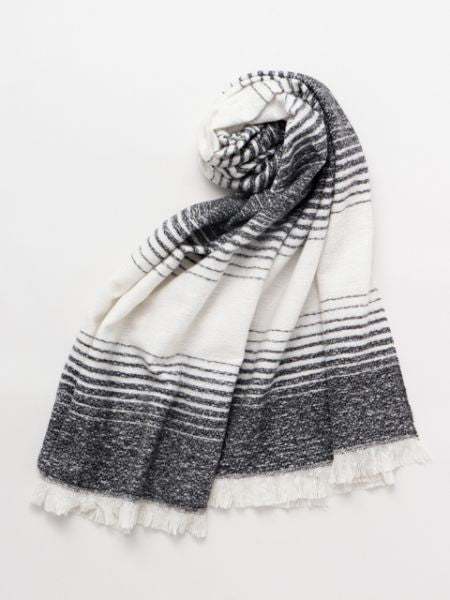 Beach Stripe Shawl -Scarves-Ametsuchi