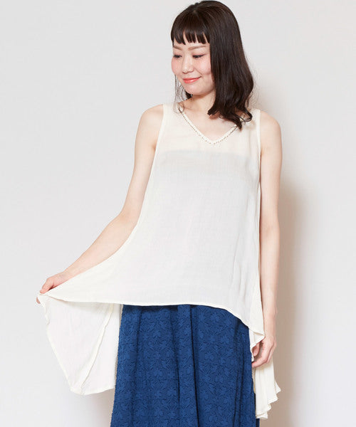 Smooth Texture Sleeveless Top