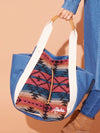 Denim ALOHA Tote Bag-Ametsuchi