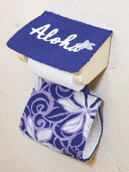 Hawaiian Chenille Embroidery Toilet Paper Holder-Ametsuchi