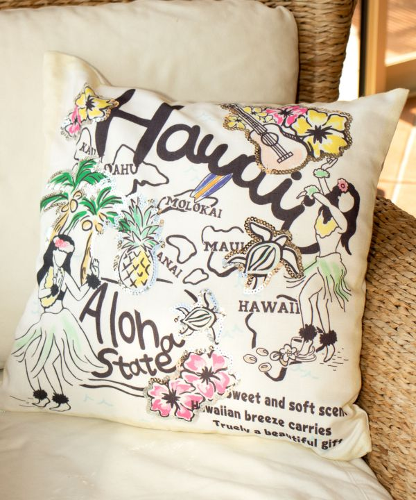 Funda de almohada de lentejuelas Hawaiian Breeze