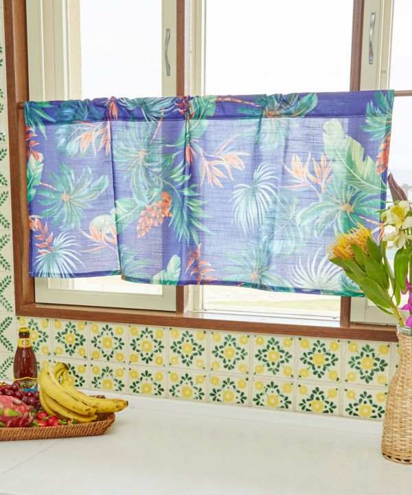 Vintage Botanical Short Curtain-Ametsuchi