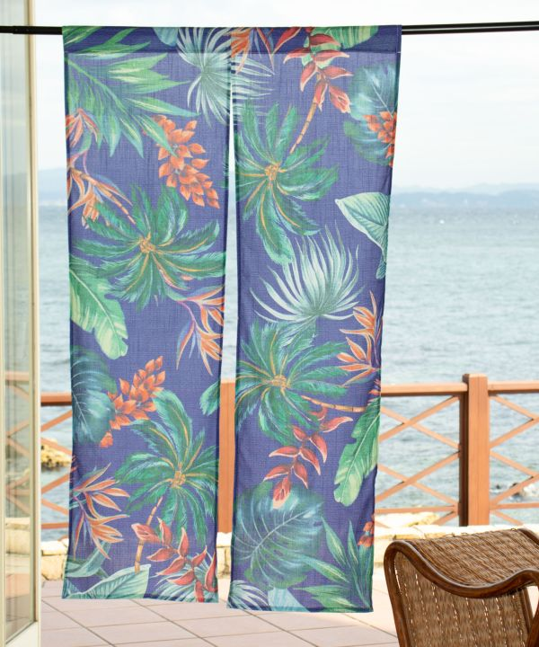 Vintage Botanical NOREN Door Curtain-Ametsuchi