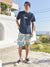 Navajo Pattern Sweat Herren Shorts