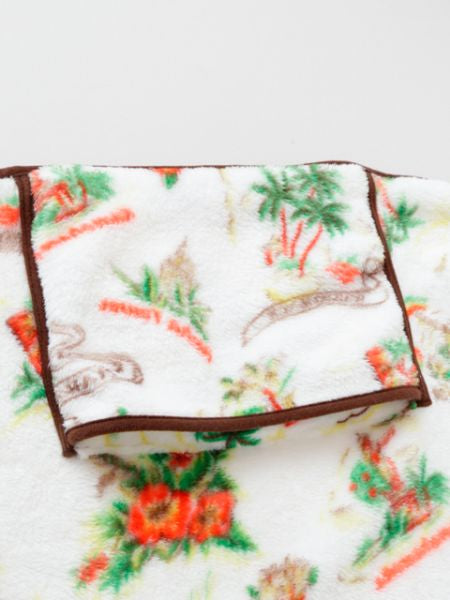Hawaiian Motif Fleece Throw S Saiz-Bed Linens-Ametsuchi