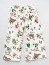 Hawaiian Motif Fleece Pants-Ametsuchi