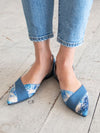 Denim Pointed Toe Pumps-Ametsuchi