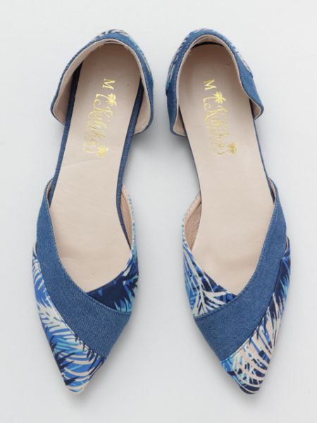 Denim Pointed Toe Pumps