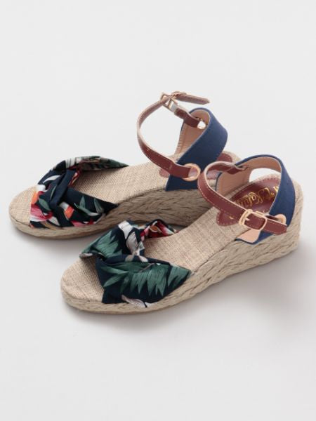 Corak Botani Strappy Wedge Sandals-Ametsuchi