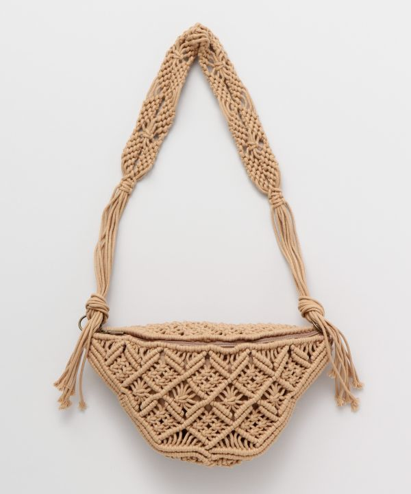 MACRAME One Shoulder Bag-Bags & Purses-Kahiko- Ametsuchi