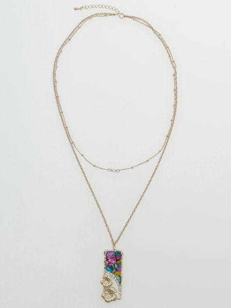 Pelangi Hawaii x Hibiscus Necklace-Necklaces-Ametsuchi