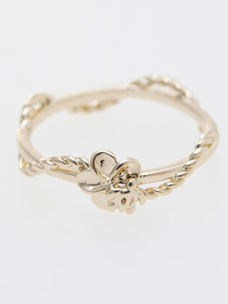 Plumeria & Honu Twisted Ring