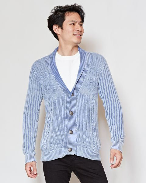 Washed Cotton Knit Cardigan