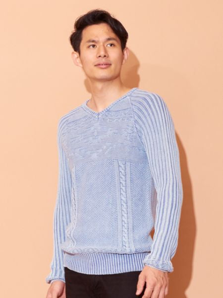 Washed Cotton Knit Top-Tops-Ametsuchi