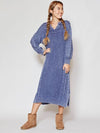 Washed Cotton Knit Maxi Dress -Dresses-Ametsuchi