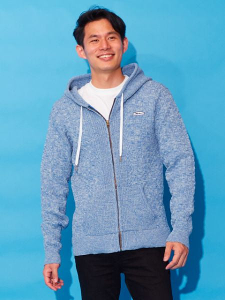 Cable Knit Men's Hoodie-Tops-Ametsuchi