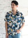 HIBISCUS Men's Hawaiian Shirt-Ametsuchi