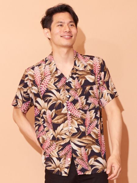 Hawaiian Botanical Pattern ALOHA Shirt