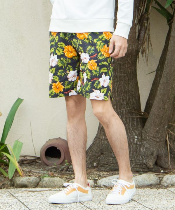 Hibiscus Men's Hawaiian Shorts-Ametsuchi