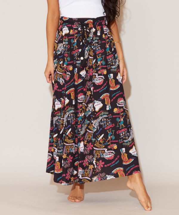Hawaiian Icon Long Skirt