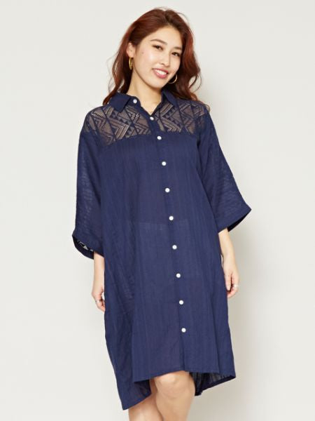 Cotton Kaftan Shirt Dress