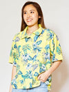 Tropical Print Hawaiian Shirt-Ametsuchi