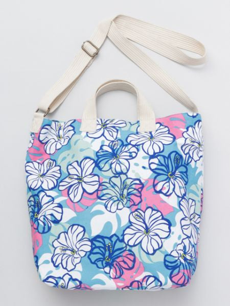 Hibiscus 2way Tote Shoulder Bag-Ametsuchi